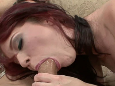 Petite redhead Jessi Palmer in sexy pink lingerie and getting her tight twat pounded